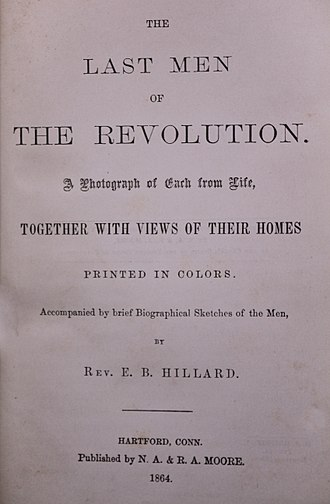 The Last Men of the Revolution - Title page of first edition