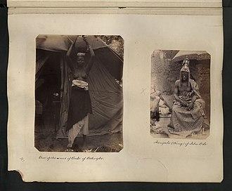 Ijebu Kingdom - The King of Ijebu (right)
