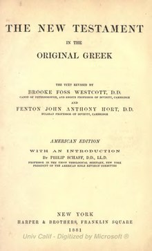 The New Testament in the original Greek - 1881.djvu