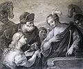 The Phillip Medhurst Picture Torah 128. Rebekah at the well. Genesis cap 24 v 22. Guercino.jpg