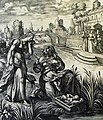 The Phillip Medhurst Picture Torah 280. Moses in the bulrushes. Exodus cap 2 v 3. Vos.jpg