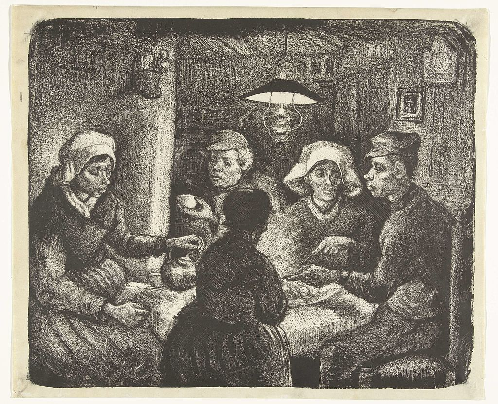 The Potato Eaters - Lithography by Vincent van Gogh