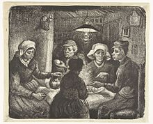analysis of the potato eaters by The potato eaters was the very first attempt of van gogh to create a masterpiece  and establish his name, but with  a very good analysis of the potato eaters.