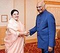 The President, Shri Ram Nath Kovind meeting the President of Nepal, Ms. Bidya Devi Bhandari, in Tokyo, Japan on October 22, 2019.jpg