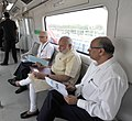 The Prime Minister, Shri Narendra Modi travelling by the Delhi Metro to the inauguration ceremony of Badarpur-Faridabad Metro Line, at Faridabad on September 06, 2015.jpg
