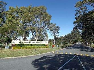 The Southport School - Main entrance, 2015