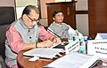 The Union Minister for Agriculture and Farmers Welfare, Shri Radha Mohan Singh addressing the members at the second General Council meeting of National Livestock Mission (NLM), in New Delhi.jpg