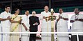 The Vice President, Shri M. Venkaiah Naidu lighting the lamp to inaugurate the Golden Jubilee Celebrations of Kochi Municipal Corporation, in Kochi, Kerala.jpg