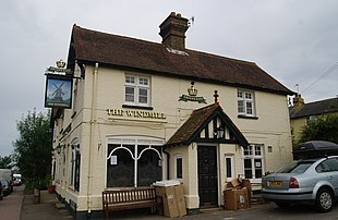 The Windmill public house in central Weald