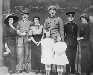 Natalia Pavlovna Paley - From left to right: Princess Olga Paley, her eldest son Alexander Erikovich von Pistohlkors, Olga Erikovna von Pistohlkors, Grand Duke Paul Alexandrovich of Russia, Princess Irina Paley, Princess Natalia Paley, Prince Vladimir Paley,  and Marianne Pistohlkors.