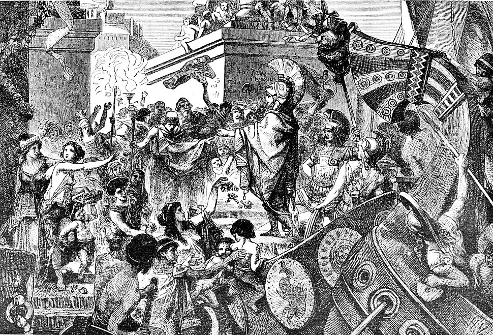 The return of Alcibiades to Athens