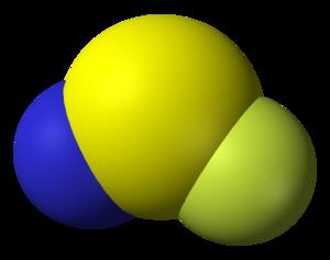 Thiazyl fluoride - Image: Thiazyl fluoride 3D vd W