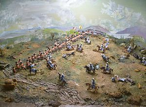 The Thin Red Line (Battle of Balaclava) - A diorama of the action in the Regimental Museum at Stirling Castle