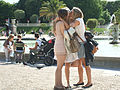 Three girls in the Jardin du Luxembourg, 24 June 2011.jpg