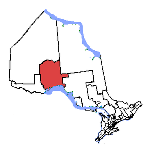 Thunder Bay—Superior North - Thunder Bay—Superior North in relation to other northern Ontario electoral districts
