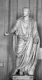 Marble statue of Tiberius, found on Capri, now in the Louvre