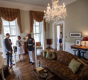 Tingey House - An interior of Tingey House pictured in 2015