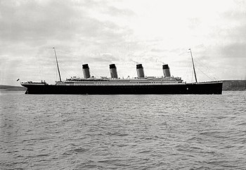 Titanic in Cork harbour, 11 April 1912