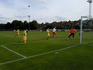 Tividale F.C. - Tividale (yellow shirts) playing Oadby Town in the FA Vase in 2010