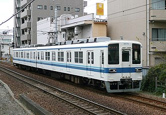 Tobu Kameido Line - A Kameido Line two-car 8000 series set in December 2011