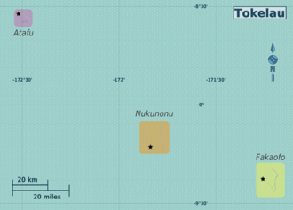 Tokelau Travel Guide At Wikivoyage - Tokelau map