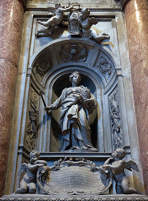 Matilda of Tuscany - Matilda's tombstone at St. Peter's Basilica, by Bernini.
