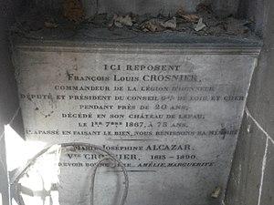 François-Louis Crosnier - Gravestone of François-Louis Crosnier and his second wife at Montmartre Cemetery