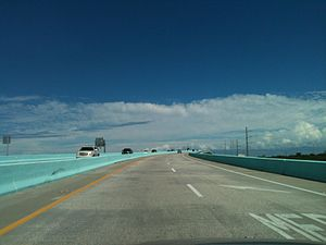Jewfish Creek Bridge - Image: Top of Jewfish Creek Bridge