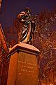 Toruń Nicolaus Copernicus Monument in the snow 1.jpg