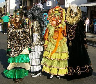 Masquerade ball - Touloulous in the Cayenne streets in 2007.