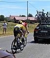 Tour de France 2019, étape 4, km 21, Alaphilippe maillot jaune.jpg