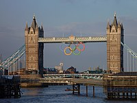 Tower Bridge with Olympic rings 2012.jpg