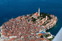 Rovinj-Rovigno as seen from the air