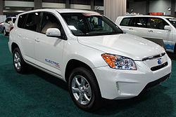 Rav4 EV phase 0 demonstrator at Auto Show