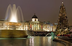 Norway–United Kingdom relations - The Trafalgar Square Christmas tree is donated to the people of London by the city of Oslo each year since 1947