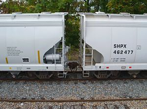 Reporting mark - A covered hopper with SHPX markings