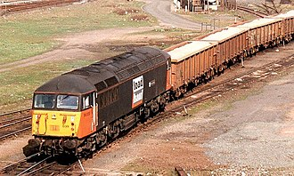 Loadhaul - Class 56 in Loadhaul livery with salt train at Tees Yard (July 1998)
