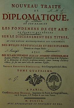 Traité de diplomatique tome 4 17008