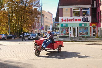 Three-wheeler - Tricycle truck in Poland (Gorzów Wlkp)