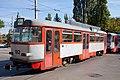 Tram in Sofia in front of Tram depot Banishora 027.jpg