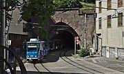 Tramo en Bratislavo, nordorienta portalo de la tramtunelo