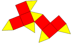 Triangular square dodecahedron net.png