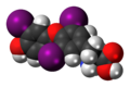 Triiodothyronine 3D spacefill.png