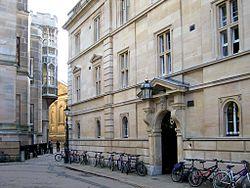 The main entrance to Trinity Hall in Trinity Lane.