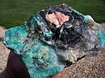 Triplite, Manganese Oxides, Amazonite, Quartz, Albite - Morefield Mine, Virginia, USA.jpg