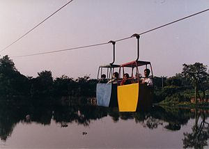 Durgapur - Children enjoy a ride in Anand Amusement Park at Durgapur City Centre