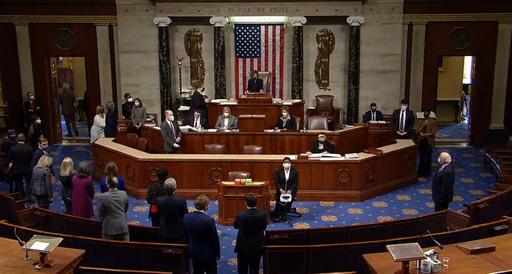 US House of Representatives votes on Trump's second impeachment. Public Domain.