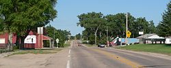 Downtown Tryon: looking east along Nebraska Highway 92/97.