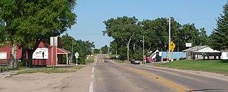 Tryon, Nebraska - Downtown Tryon: looking east along Nebraska Highway 92/97.