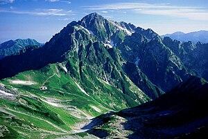 Mount Tate - Image: Tsurugidake from bessan 22 1995 8 20